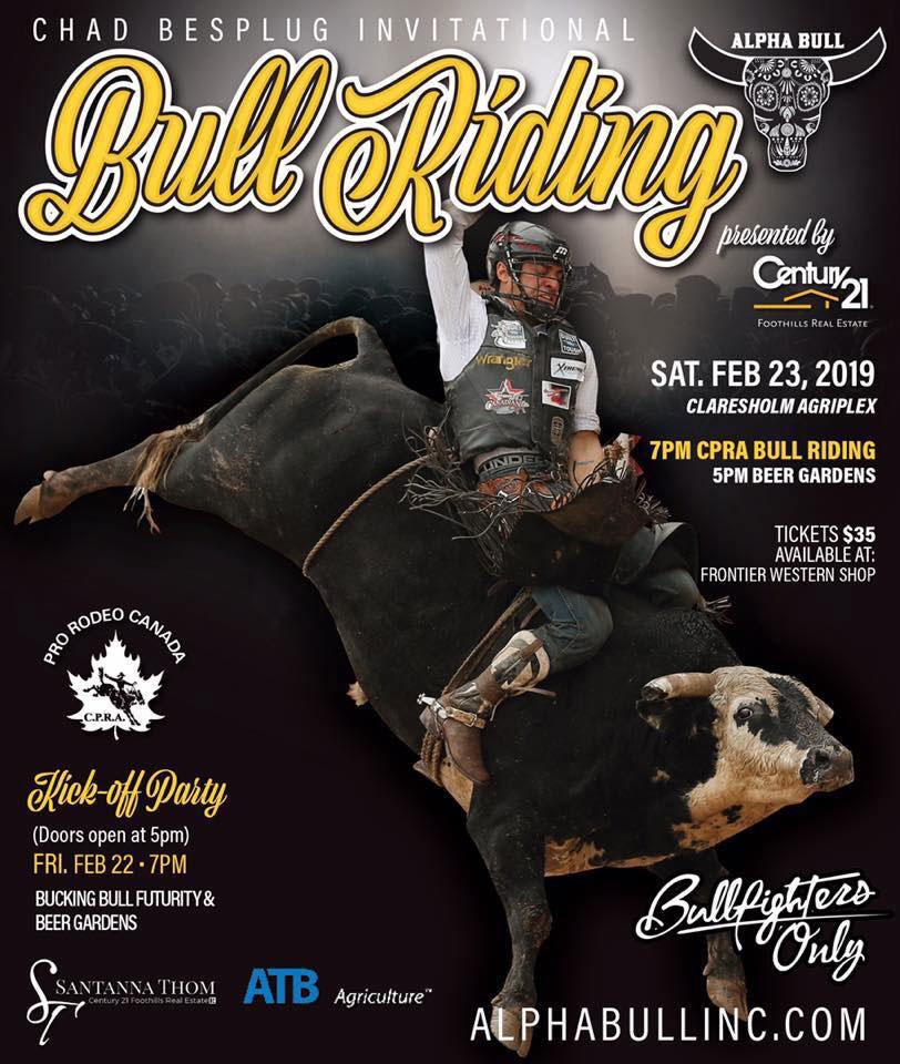 Chad Besplug Professional Bull Rider 2 X Canadian